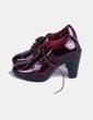 Zapato acharolado con cordones  Ras