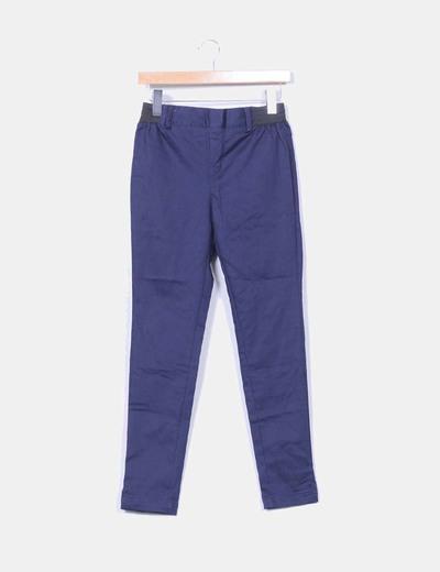 Leggins azul marino con cinturilla negra Venca