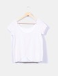 Camiseta beige estampada escote espalda Sfera
