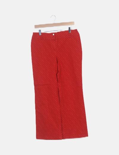 Jeans denim rojo estampado letras