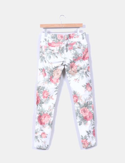 Jeggings denim floral
