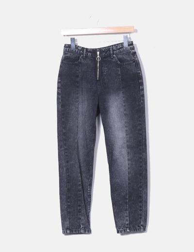 Jeans noirs zipper Pimkie