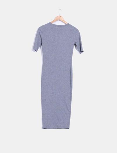 Maxi vestido gris de canale