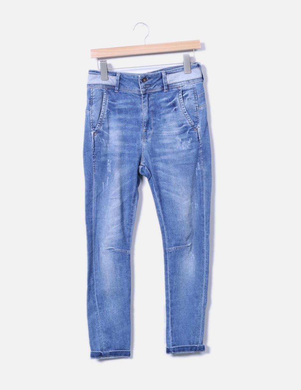 Pantalones Nqv867xx Baratos For Baggy Mujer Denim Zara Pantalón AZxwqU5