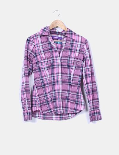Chemise rose à carreaux Mexx