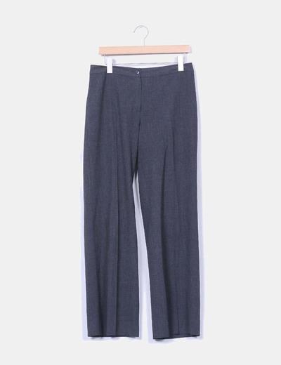 Pantalón sarga gris jaspeado Yera