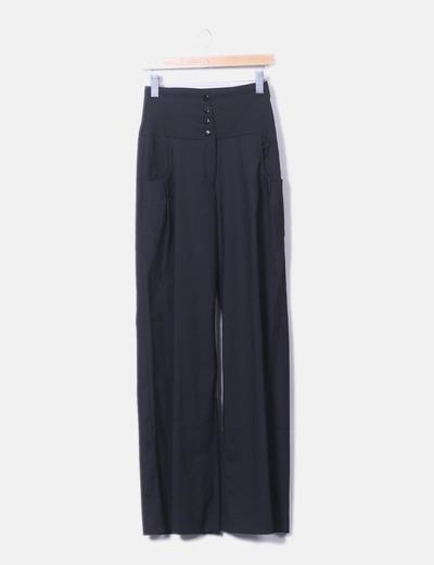Pantalons noirs palazzo par penelope et monica cruz Mango
