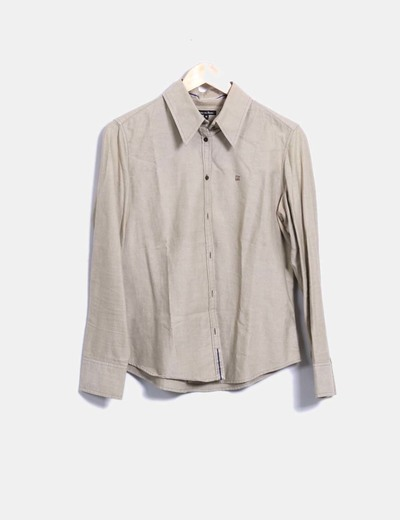 Camisa beige jaspeada Pedro del Hierro