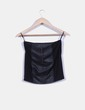 Mini falda negra combinada Suiteblanco