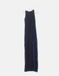Vestido maxi negro elástico irisado azul Stradivarius