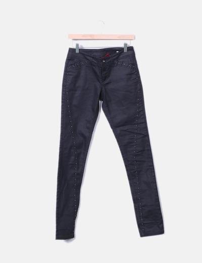 Pantalon noir avec motif clous Vero Moda