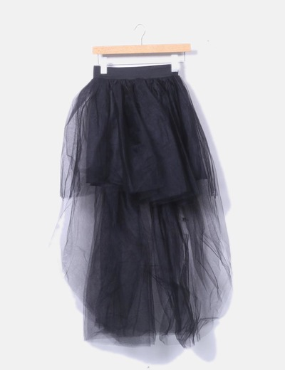 Falda negra tul