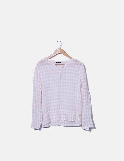 Blusa rosa de cuadros