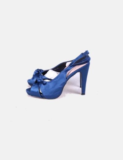 Sandalia tacón azul eléctrico