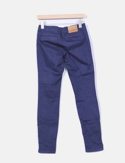 Pantalon azul marino cremalleras
