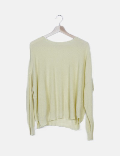 Jersey tricot amarillo oversize