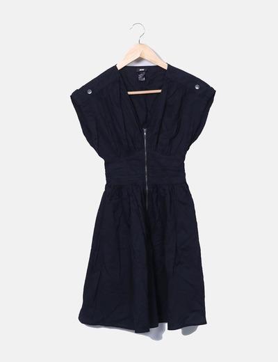 Vestido negro con cremallera H&M