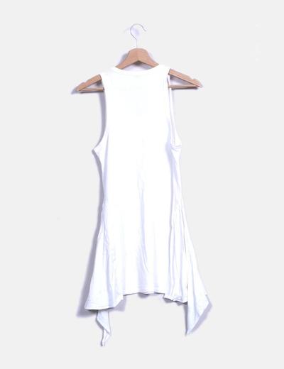 Vestido blanco asimetrico