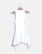 Vestido blanco asimetrico  Zara
