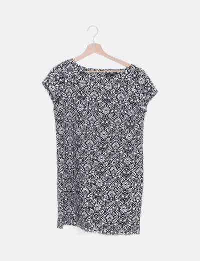 Vestido mini estampado vintage