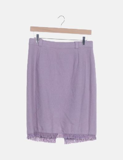 Falda lila flecos