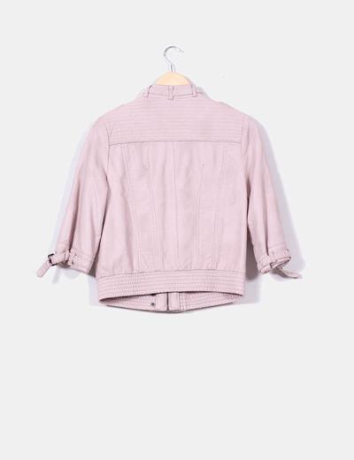 Zara Casaco de manga de pele french (desconto de 66%) - Micolet e32c94bd43fe