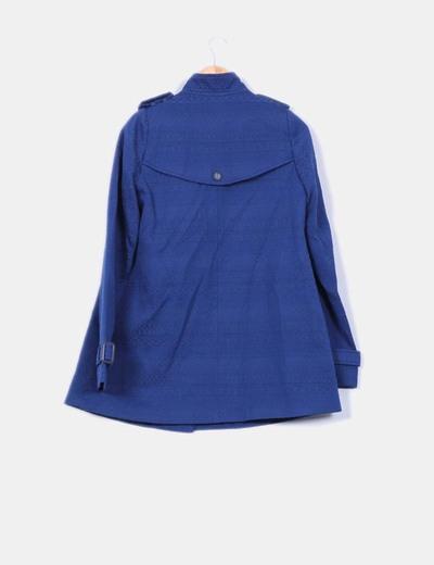 Abrigo azul marino texturizado