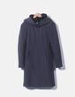 Abrigo gris de paño con capucha Zara