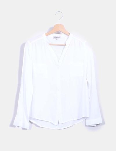 cf2fff9ce Bruebeck Blusa blanca con bolsillos (descuento 81%) - Micolet