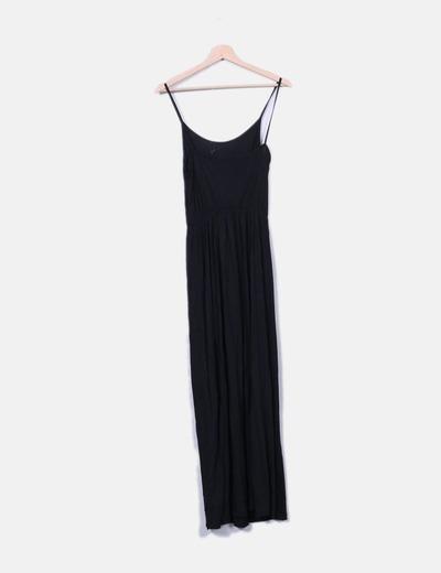 e758855ed H M Vestido largo negro de tirantes (descuento 71%) - Micolet