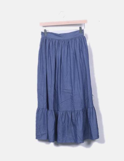 Falda midi denim