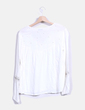 Blusa manga larga combinada con pedrería Bershka