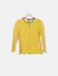 Blusa encaje color mostaza Zara