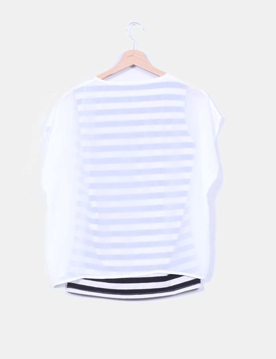 Blusa doble capa estampada
