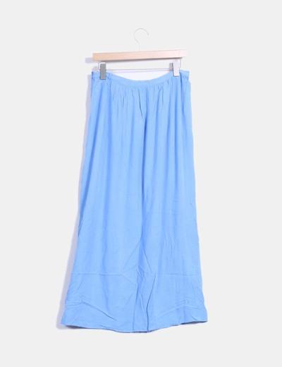 Falda maxi azul cielo