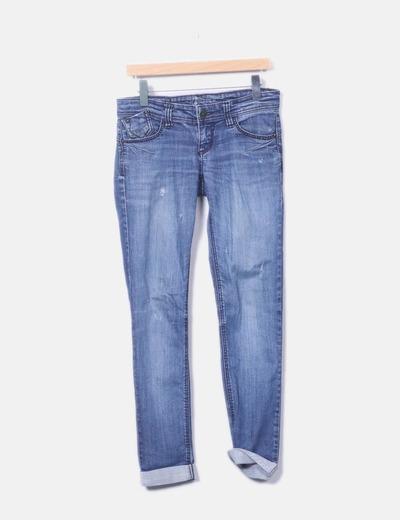 Pantalon denim desgastado