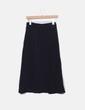 Falda midi negra asimétrica Suiteblanco