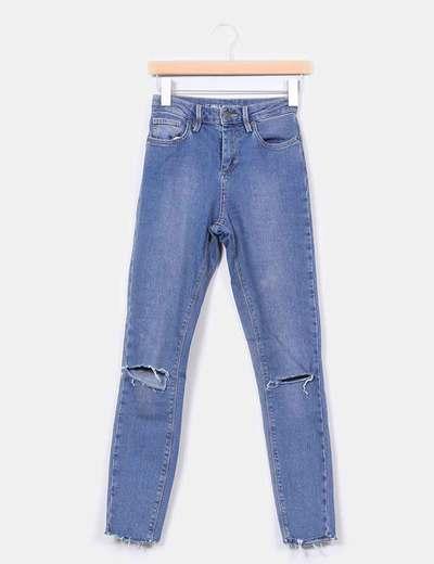 Jeans taille haute avec cassé Subdued