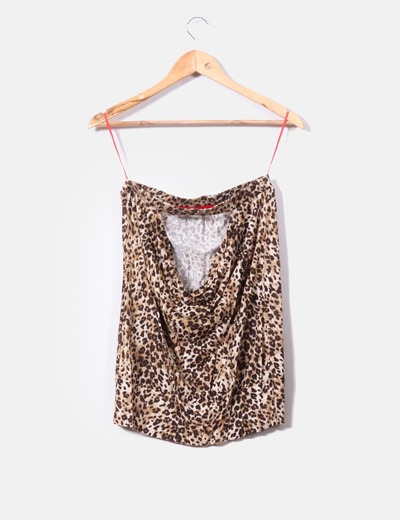 Top palabra de honor print leopardo