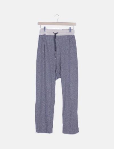 Pantalón deportivo gris jaspeado