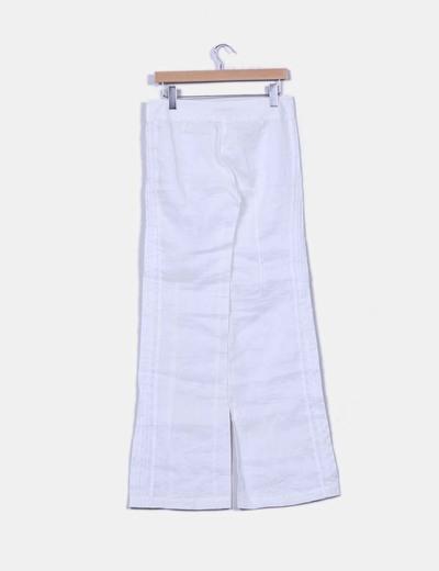 Pantalon blanco de ramio