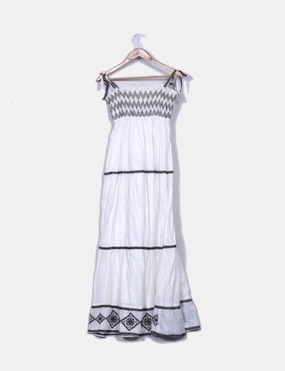 Vestido maxi blanco