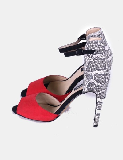 Chaussures rouges heeled serpent Lefties