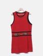 Red tricot midi dress Cortefiel
