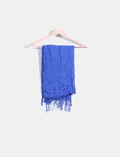 Foulard hilo azul con flecos NoName