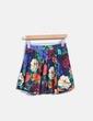 Mini falda azul marino de vuelo print floral Pull&Bear