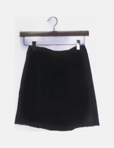 Falda de pana gris oscuro