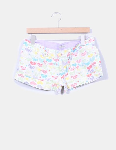 Shorts estampados multicolor