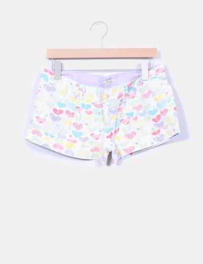 Shorts estampados multicolor Zara