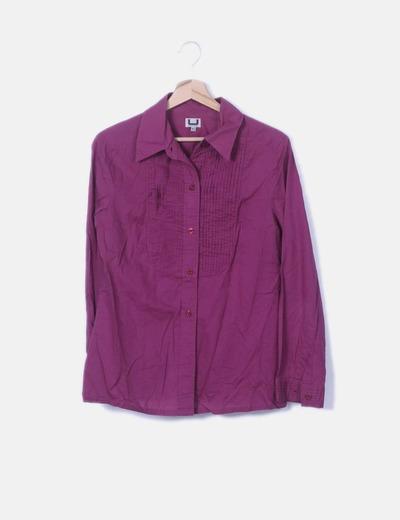 Camisa morada manga larga
